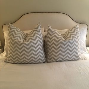 Two custom made chevron pillow cases
